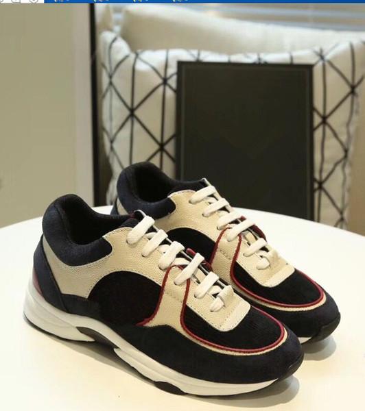 Nuovo arrivo di lusso in pelle scarpe casual da donna designer scarpe da uomo in vera pelle moda sport sneakers 36-45