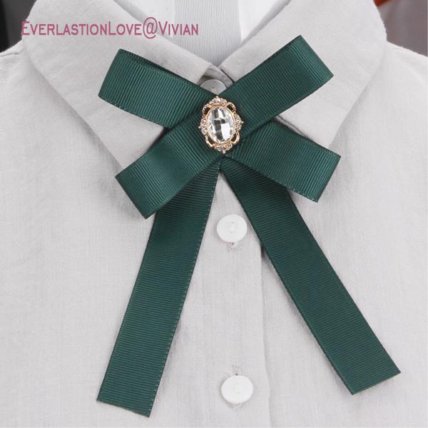 Il più nuovo modo tessuto fiocco spille per le donne neck tie pin party wedding grande nastro spilla gioielli abbigliamento accessori regali