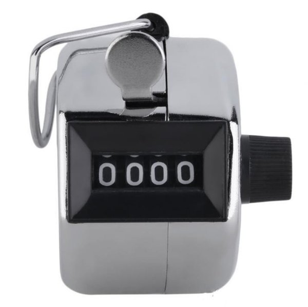 best selling Digits Stainless Counters Professional 4 Digit Hand Held Tally Counter Manual Palm Clicker Number Counting Golf