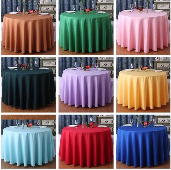 Nappe de table ronde de couleur unie pour la fête de mariage de noël Restaurant de restaurant de banquet décor de table