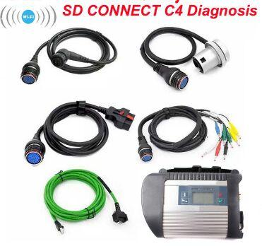 Professional MB Star C4 Best SD Connect Compact 4 C4 Car Diagnostic Tool for Mercedes for Benz Support Wifi test