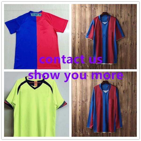Retro Soccer Football Jersey 1899 2007 Long sleeves Men Throwback Soccer Football Jersey Adult Sport Set Uniforms Soccer Wear