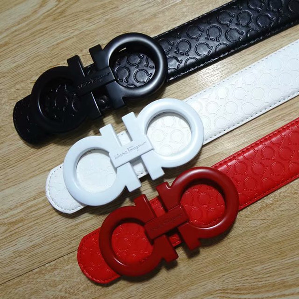 Big large buckle genuine leather belt designer belts men women high quality new mens belts luxury belt free shipping