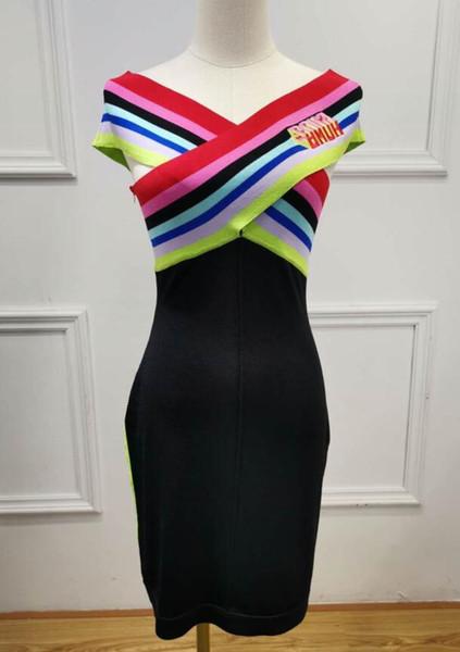 FF Luxury Women Strapless Dress Summer Sheath Designer Dresses Bodycon Formal Dresses