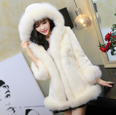 mink 2019 winter women's faux fur jacket artificial fur overcoat furry coat femme plus size mink fake outwear z155