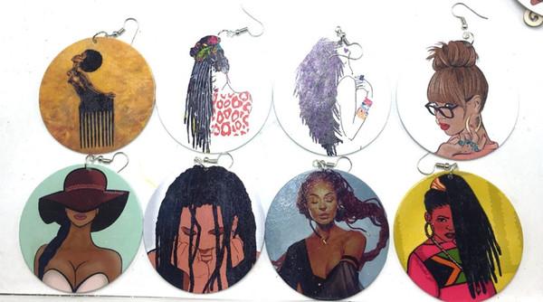 ¡Envío gratis! Trenzado africano Cabello Pendientes de madera pueden mezclarse 8 diseños