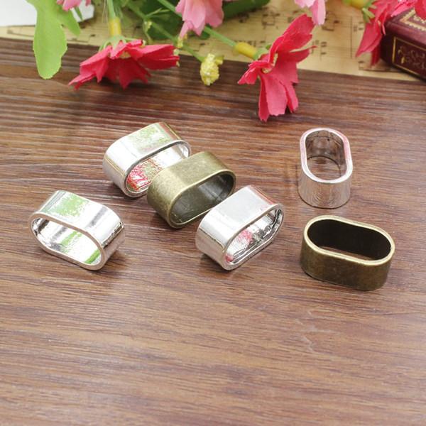 Fit: 10 * 20mm Cord Tube Plat Curseur, pour Bracelet Collier Cordon Perles montre chaîne Perles DIY Accessoire 20pcs / lot K05418