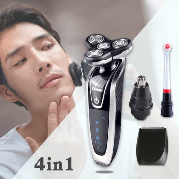 Kemei 7in1 Multifunction Electric Shaver For Men Shaving Machine Electric Razor Beard Trimmer Hair Clipper Sideburns Knife 4 T9190617