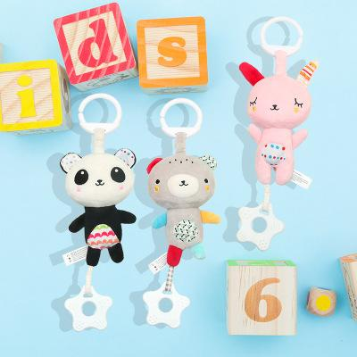 Baby Toys Plush Doll Toddlers Mobiles Education Toy Bebe Doll Bed Stroller Rattle Bell Handbells Rattles Toy Infant Birthday Present
