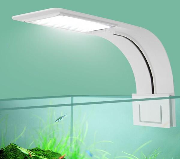 Super Slim LED Aquarium Light plantes d'éclairage Grow Light 10W Aquatic Plant éclairage étanche Clip-on Lampe pour Fish Tank