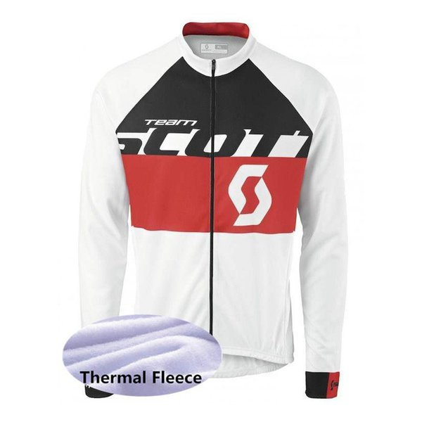 SCOTT team Cycling Winter Thermal Fleece jersey Outdoors Sports Tops Bike Wear Clothes Long sleeve mens Ropa de ciclismo Y53045