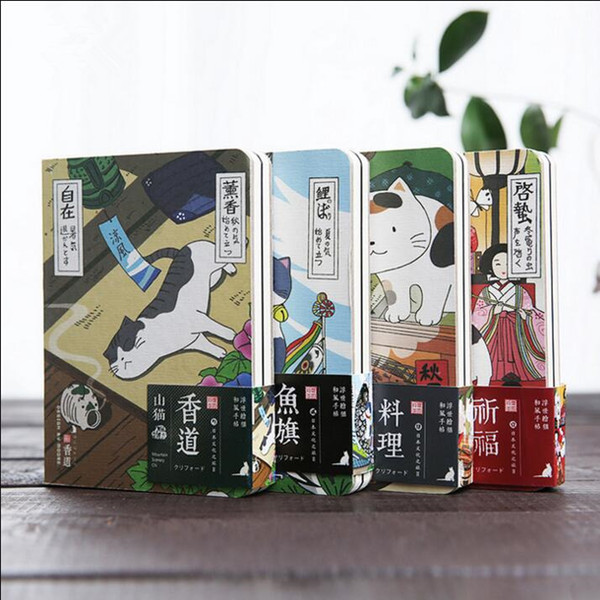"""""""japanese Cat Ver.2"""" Cute Monthly Planner Agenda Study Notebook Pocket Diary Freenote Travel Journal Stationery Gift"""