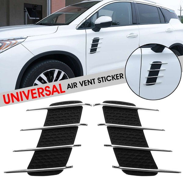 1 Pair Universal Car Bonnet Air Intake Flow Side for Fender Vent Hood Sticker Decal
