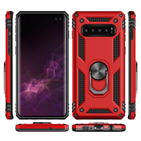 najwyższa jakość niskie ceny najlepiej kochany For Samsung Galaxy S10 S10 Plus Hybrid Rugged Shockproof Armor Stand Case  For S10 Lite Metal Ring Magnetic Car Holder Cover Camo Cell Phone Cases  Cell ...