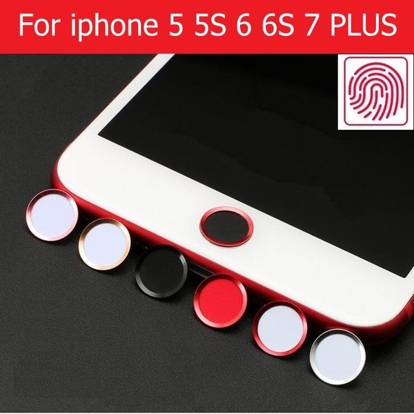 New Aluminum Touch ID Home Button Sticker for iPhone 5s se 6 6s 7 plus home key sticker with Fingerprint Identification