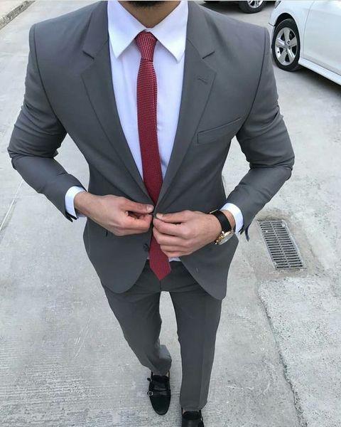 Slim Fit mariage partie hommes costumes pour garçons d'honneur smoking deux pièces veste pantalon dernier style sur mesure