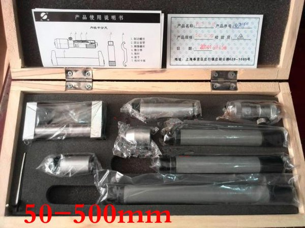 top popular Freeshipping Take over inside micrometer 50-600MM Precision is 0.01 2020