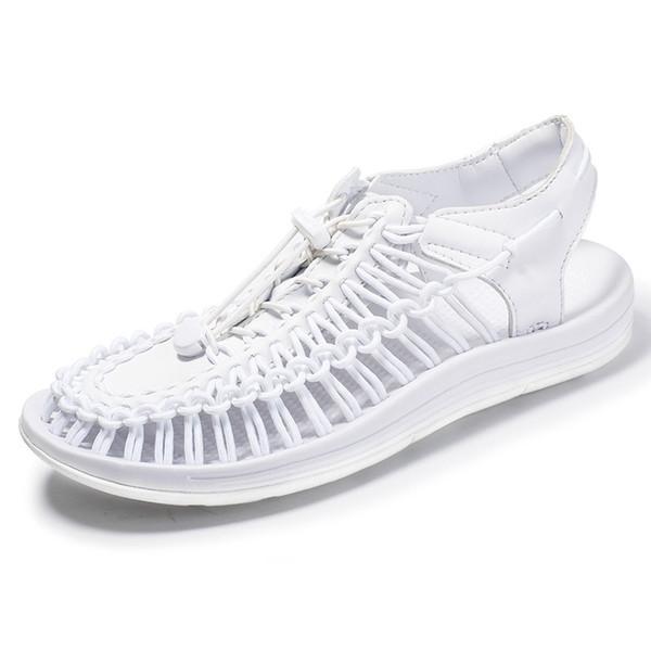 Sandalias populares para hombres sandalias de punto casuales Zapatos de Roma de gran tamaño para hombre zapatos de verano al aire libre zapato unisex gladiador zy329