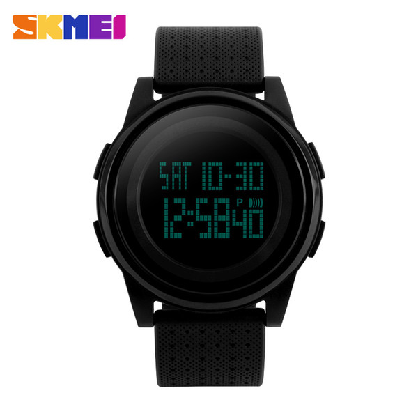 New SKMEI Sport Watch  LED Electronic Digital Watch 5ATM Waterproof Outdoor Sport Watches For Women Men Wrist