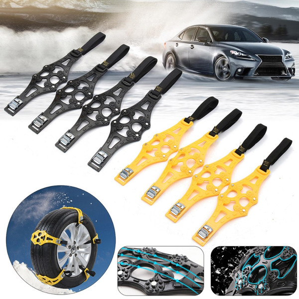 best selling anti skid chains for tires Car Tyre Winter Roadway Safety Tire Snow Adjustable Anti-skid Safety Double Snap Skid Wheel TPU Chains