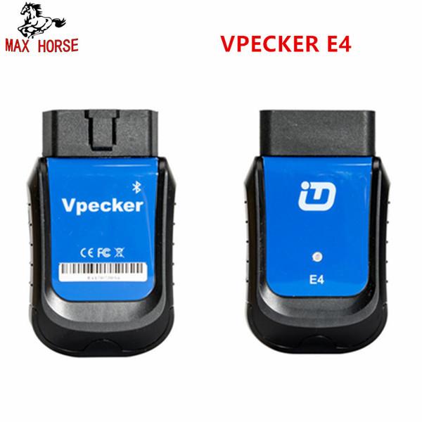 VPECKER E4 Telefone Sistema Completo Bluetooth OBDII Ferramenta de Verificação para Android Suporte ABS Sangramento / Bateria / DPF / EPB / Injector / Redefinição De Óleo / TPMS