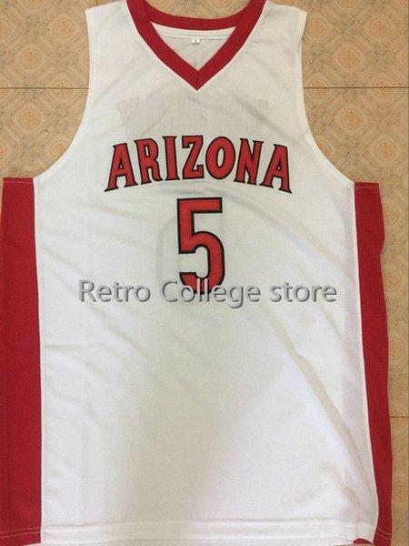 2019 neue Hohe Qualität 23 Hollis-Jefferson 5 stanley johnson Arizona Wildcats Rot Weiß Herren Basketball Jersey Benutzerdefinierte jeden Namen und Nummer