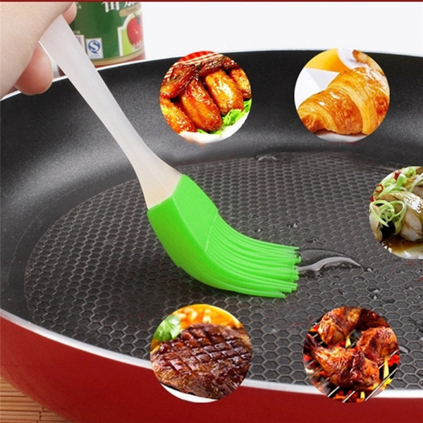6 color Silicone Butter Brush BBQ Oil Cook Pastry Grill Food Bread Basting Brush Bakeware Kitchen Dining Tool ST158
