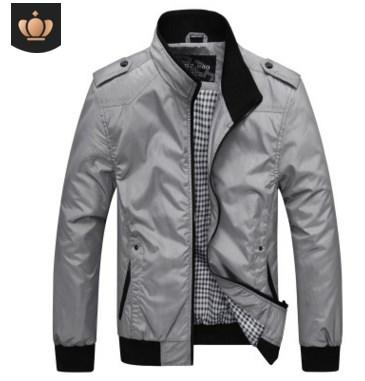 2019 Top Mens Jackets Spring Autumn Casual Coats Solid Color Mens Sportswear Stand Collar Slim Jackets Male Bomber Jackets 4XL