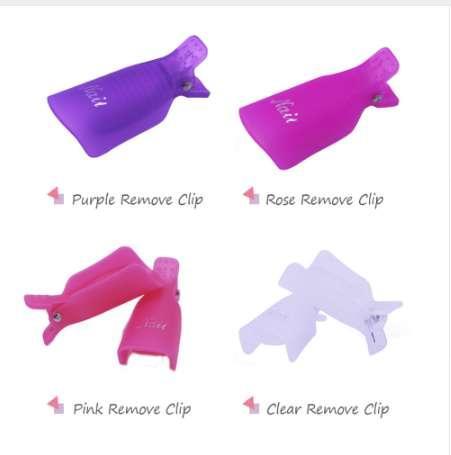 10 Unids Nail Art Remover Gel Esmalte Soakers UV Uñas Desengrasante Polaco Wrap Tool Reutilizable Uñas Soak Off Cap Clip Herramientas de manicura