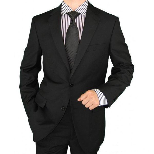 Black/Gray Wedding Tuxedos for Groom Wear 2019 Classic Fit Notched Lapel Two Piece Custom Made Business Party Men Suits (Jacket + Pants)