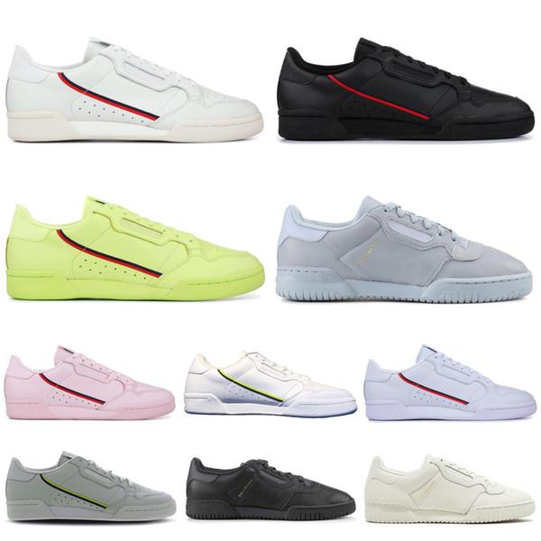 2019 Yeni Powerphase Calabasas Continental 80 Rahat Ayakkabılar Çekirdek Siyah Beyaz Pembe Yarı Dondurulmuş Sarı Gri Kadın Erkek Eğitmen Spor Sneakers