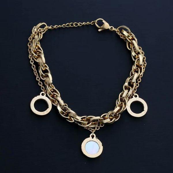 designer bangles charm bracelet friendship bracelet women bracelets Multi-tag bracelet titanium steel free shipping