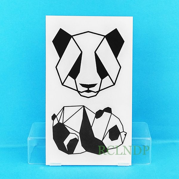 Tattoo Body Art Temporary Tattoos Waterproof Temporary Tattoo Sticker cute panda tatto stickers flash tatoo fake tattoos for child kid girl