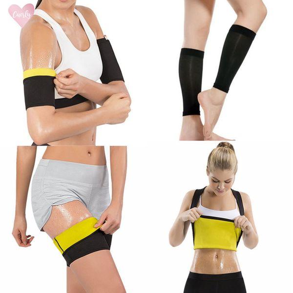 Women Shaper Sweat Sauna Slimming Shirt Hot Body Arms Sleeves Trainer Sleeves Thigh Leg Calf Shapewear Weight Loss Suits