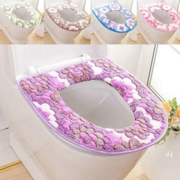 Soft Bathroom Toilet Seat Closestool Washable Warmer Mat Cover Pad Cushion Bathroom Toilet Seat Toilet Seat Cover