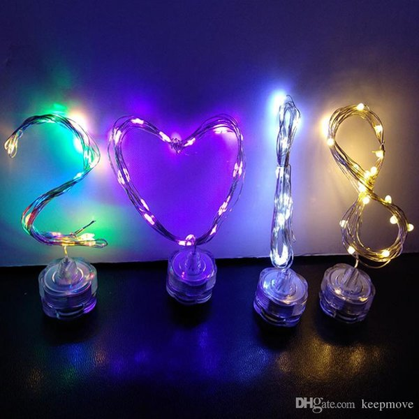 IP65 Waterproof LED Copper wire Candle light String 2M 20LED Indoor Wedding Xmas Holiday Decor Fairy LED string lamps Fish tank light