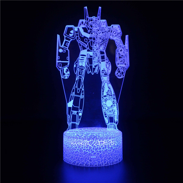3D Illusion Transformer Night Light for Kids, 4 Pattern and 7 Color Change NightLight - Perfect Gifts for Birthday and Christmas