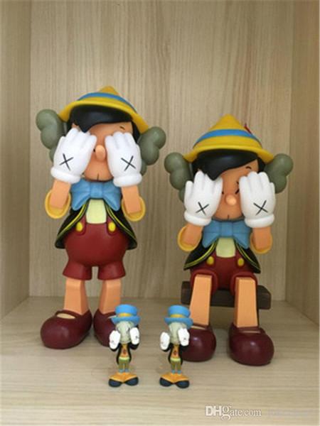 Kaws Smlll Ложь Оригинальная Поддельная Положение Сидения Фигурку Коллекция Кукла Горячая Игрушка Новый Прибытие Горячая ПродажаБесплатная Доставка Медвежонок