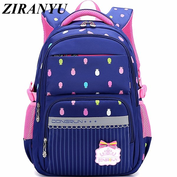 Beautiful Pineapple Printing Waterproof School Backpack For Girls School Bag For Teenager Bags Girl Big Capacity Bags