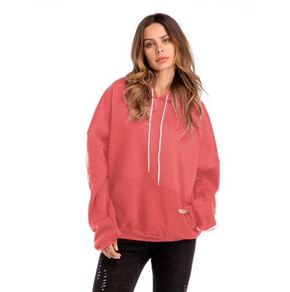 Fashion Designer Hoodies For Women Sweatshirts Spring Winter Thick Lady Outerwear Batwing Sleeve Hooded Coat Clothing 3 Colors S-3XL