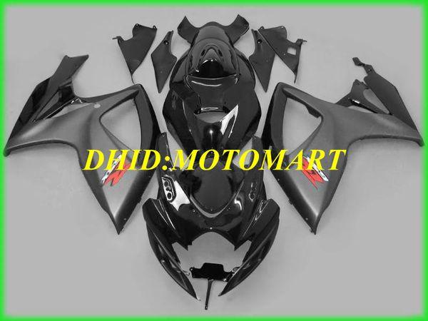 Комплект для литья под давлением Обтекатель для SUZUKI GSXR600 750 K6 06 07 GSXR600 GSXR750 2006 2007 ABS Серый глянцевый черный Обтекатели SB09