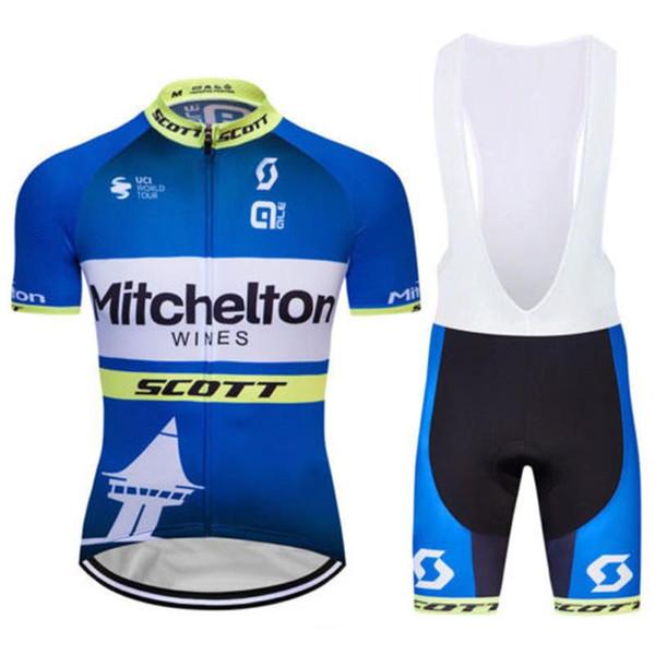 19 Scott Mitchelton Şaraplar Bisiklet Formaları Kısa Kollu Forması (önlük) Şort Setleri Yaz Açık Bisiklet Sporları Bisiklet Giyim Pro Dağ