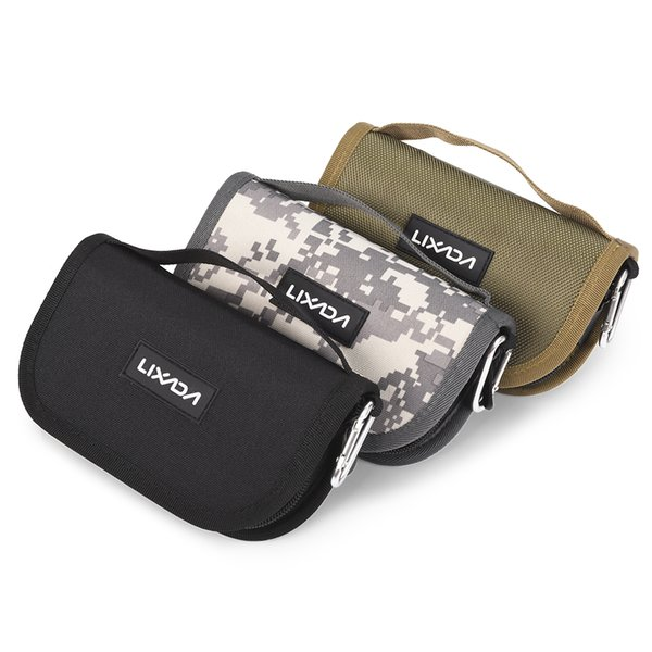 Waterproof Professional Spoon Hook Waist Shoulder Bag Lures Case Messenger Fishing Tackle Pesca 16*9.5*5cm