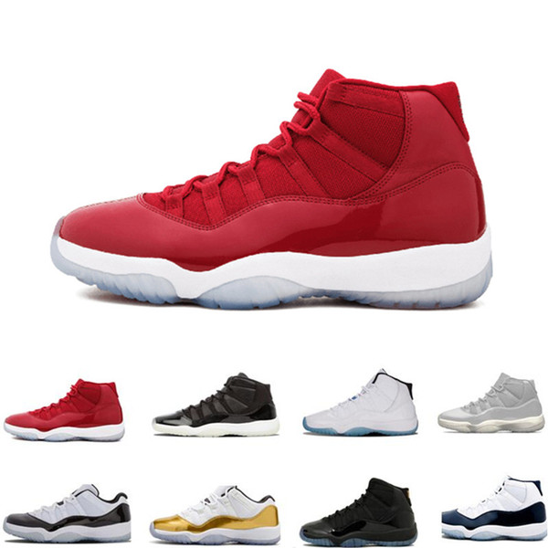nike air jordan 11 Concord High 45 11s Platinum Tint Cap et Gown Hommes Chaussures de Basketball Gym Red Bred Barons Space Jams 11 Baskets de design