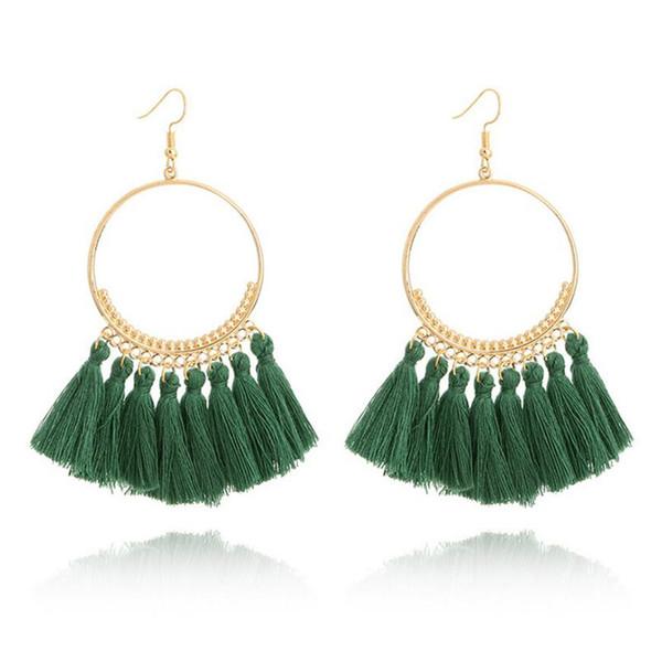 Handgemachte Böhmische Lange Quaste Baumeln Ohrringe für Frauen Vintage Geometrische Ohrringe Hochzeit Braut Mit Fransen Schmuck brincos