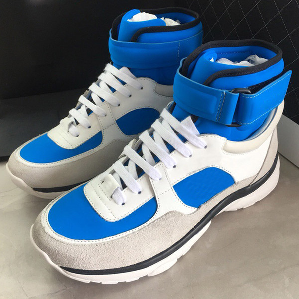2019 High Quality Fashion Designer Shoes for Women Leather Casual Shoes Thick Sole Classic High Top Shoes Size 36-40