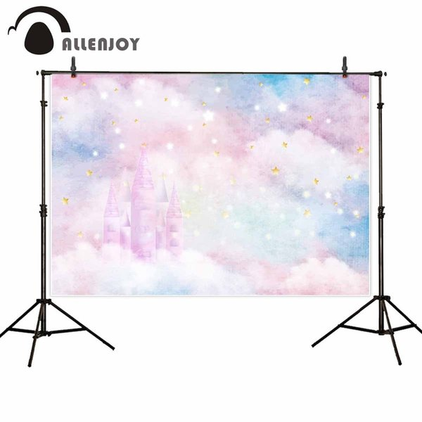 llenjoy backgrounds for photography studio glitter stars castle colorful clouds baby shower backdrop birthday party photocall Allenjoy ba...
