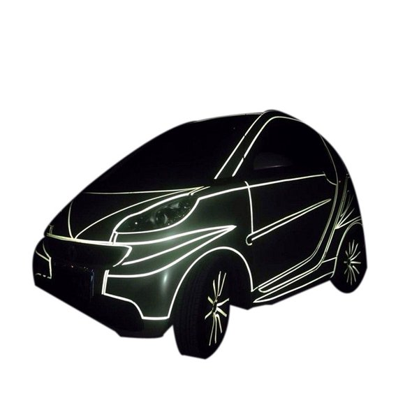 Car Sticker 1cm*5m Reflective Sheeting Tape Adhesive Film Reflect Auto Body Motorcycle Bike Vinyl Decal Style Decoration Film Stick To Car