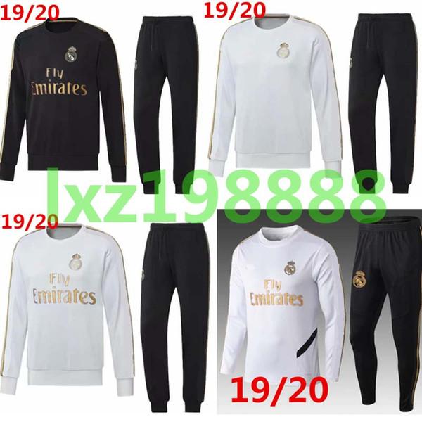 2019 2020 Real Madrid eşofman yetişkin futbol chándal Maillot De Ayak eşofman 19 20 yetişkin eğitim suit survêtement Spor ayak topu