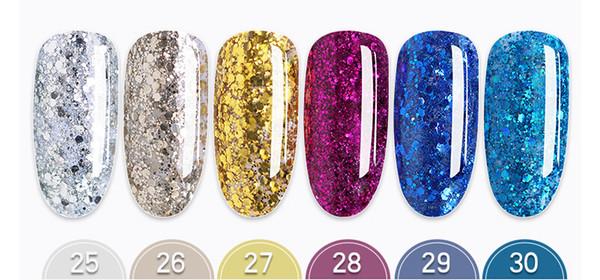2019 New Japanese phototherapy nail polish plastic flashing powder sequins colorful star oil Bobbi glue dhl.